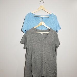 Mossimo T-shirts blue - gray